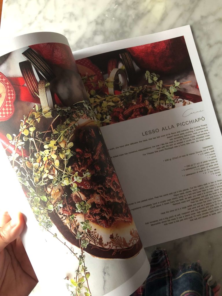 a page of the Gourmet Mag with a meaty Christmas dish