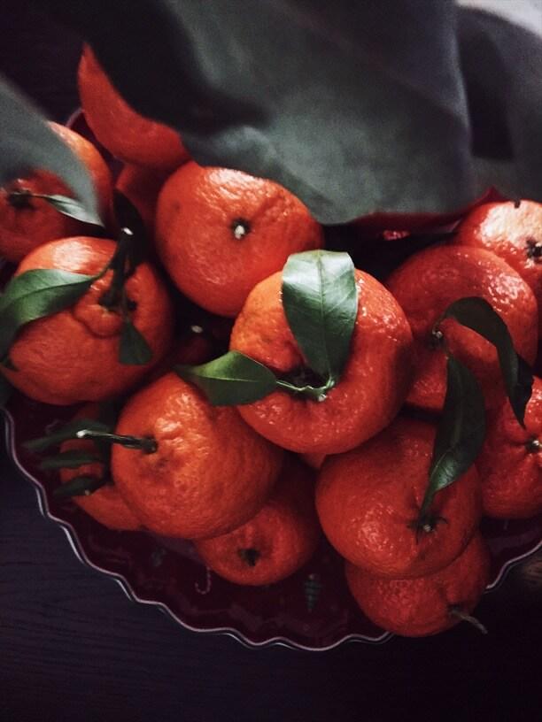 New Year Eve tangerines