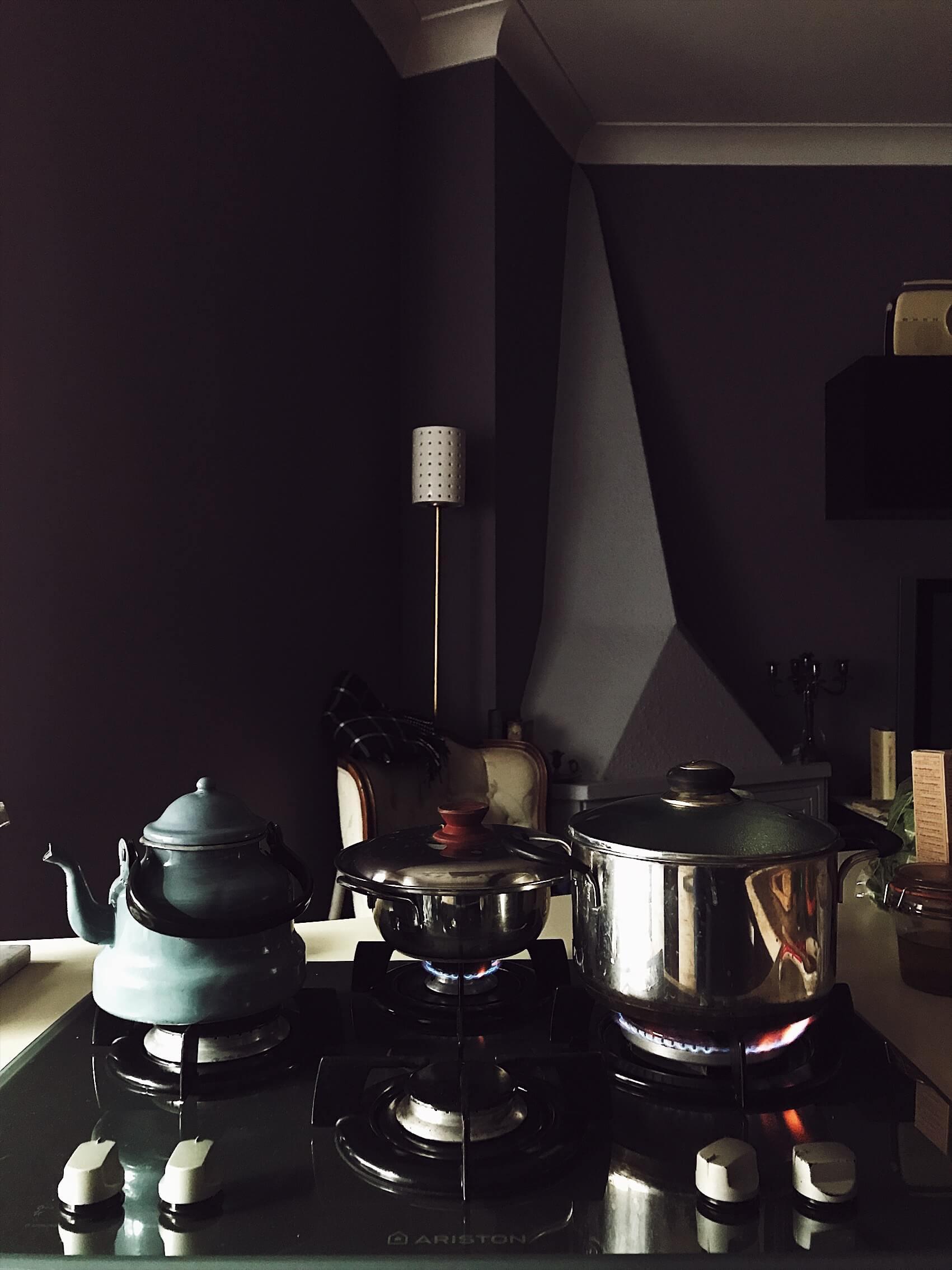 Christmas Eve pots on the stovetop