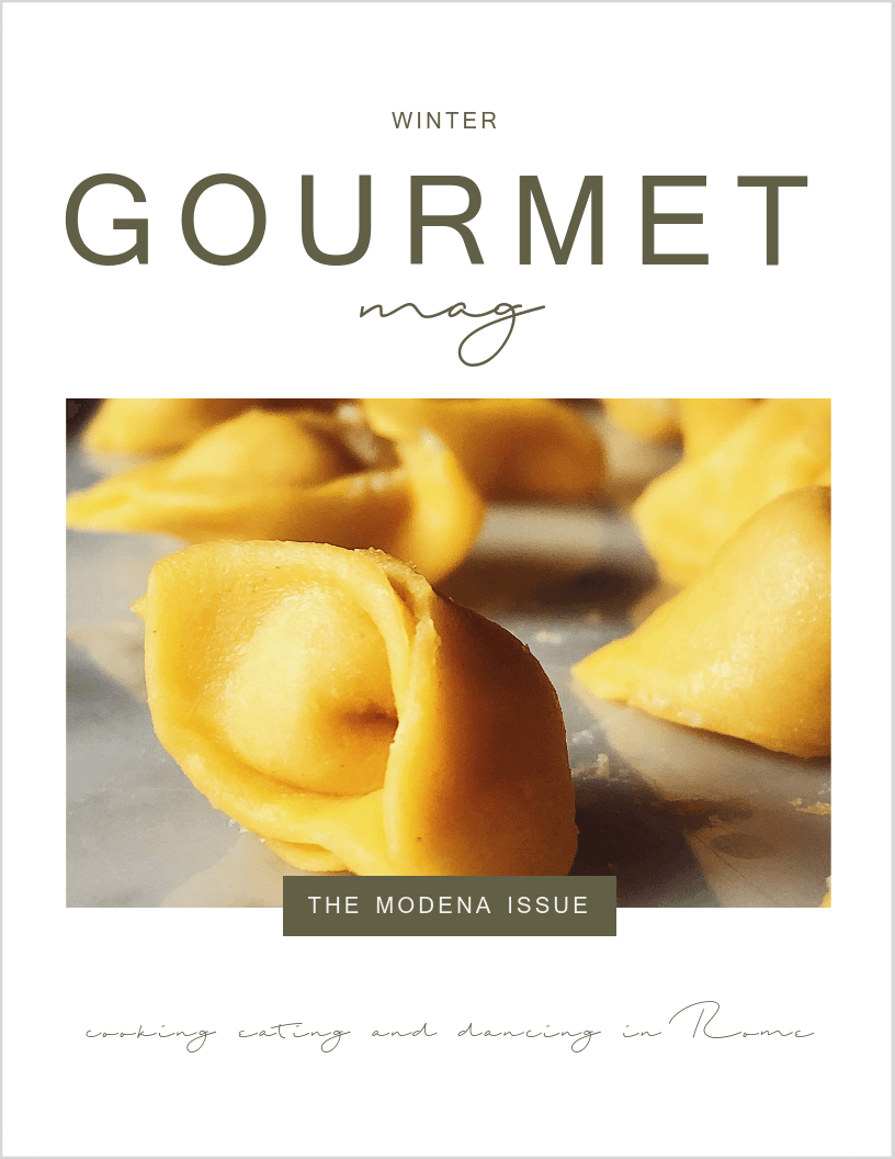 Modena issue of the gourmet mag an Italian magazine