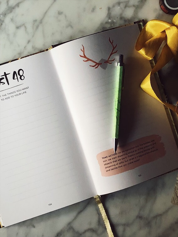 The 52 lists project book inner pages
