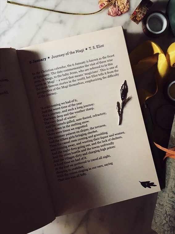 a poem for every night of the year inner pages
