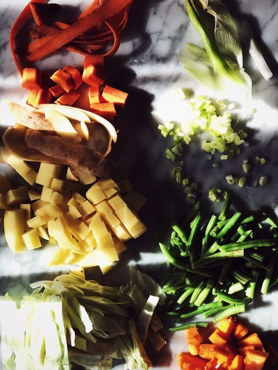 minestrone soup recipe veggies