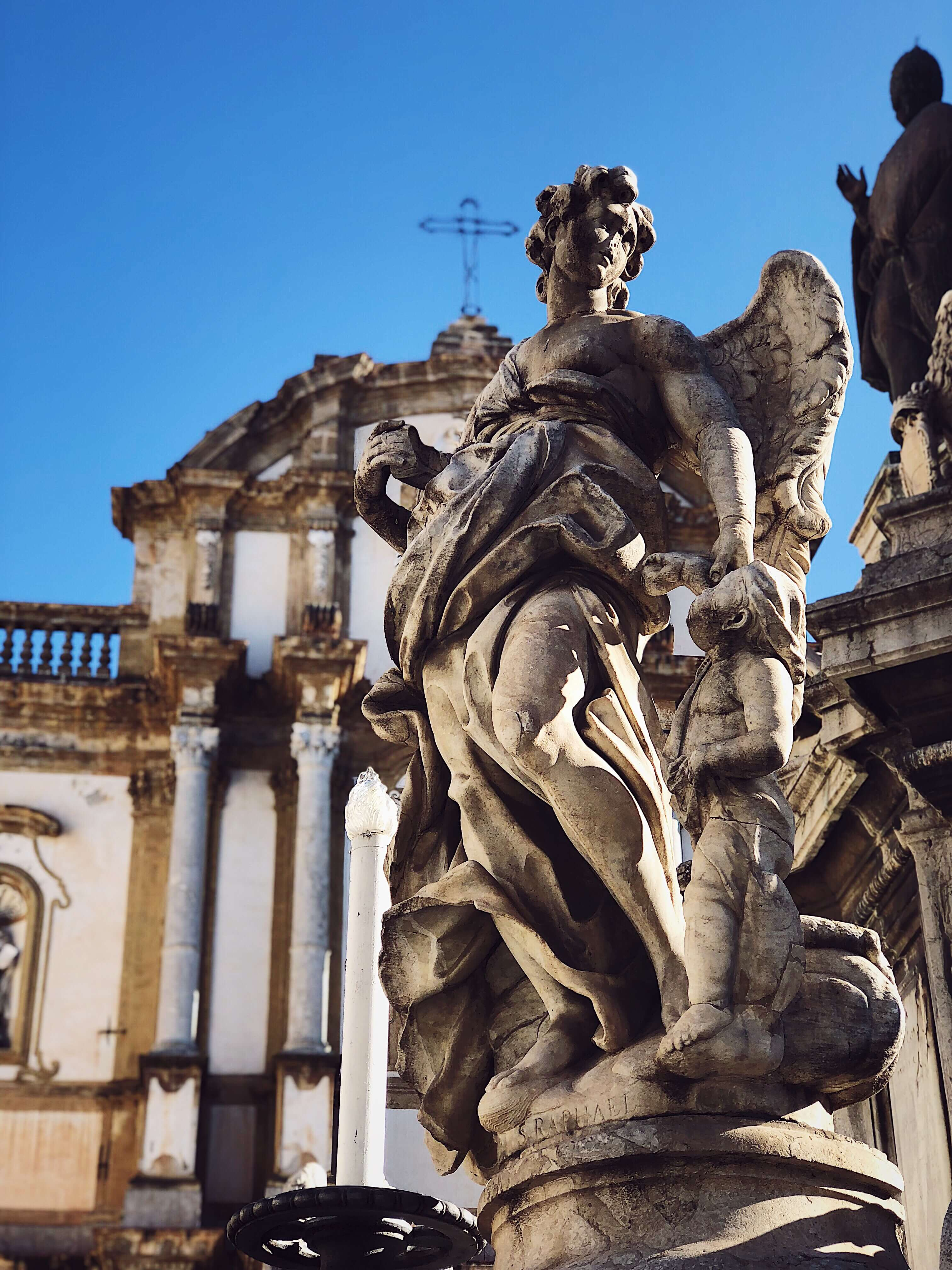 angel statue in Palermo