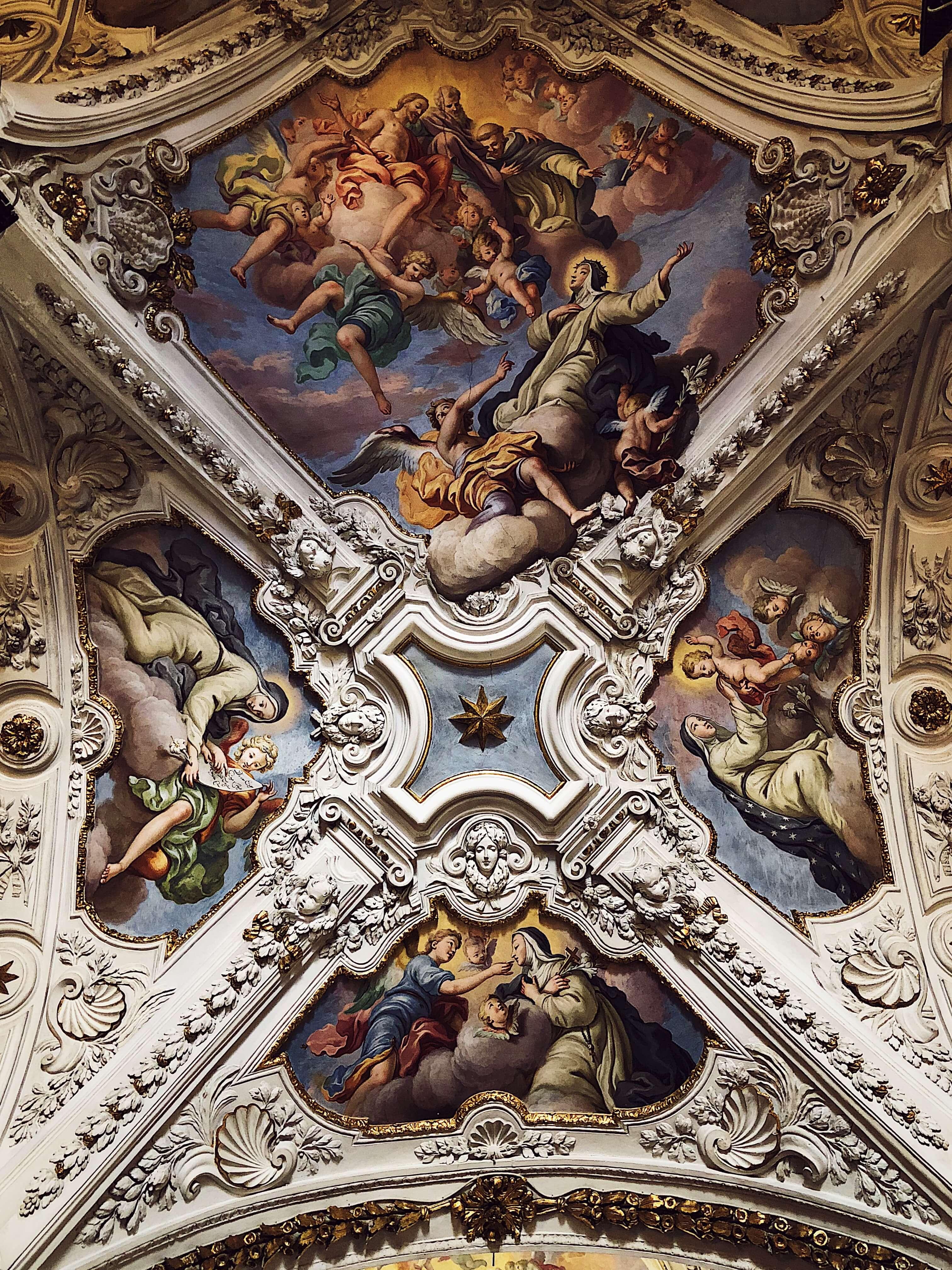Palermo church ceiling