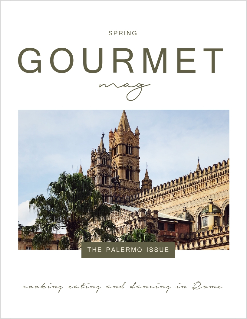 Palermo Issue cover of the Gourmet Mag