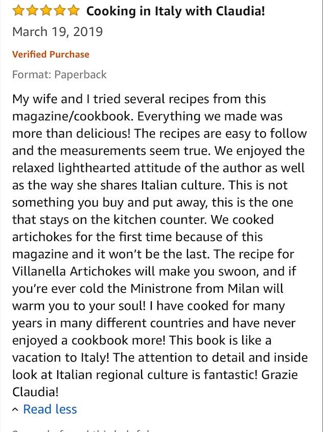 Italian magazine review