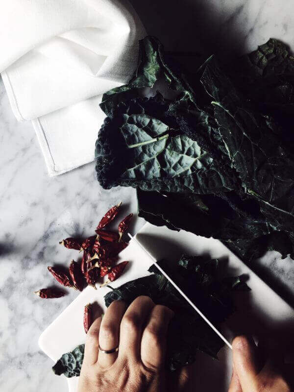 easy kale recipes from Tuscany: kale bruschetta