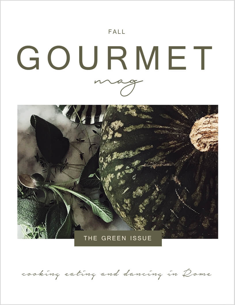 the Alba Italy & Langhe issue cover of the Gourmet Mag