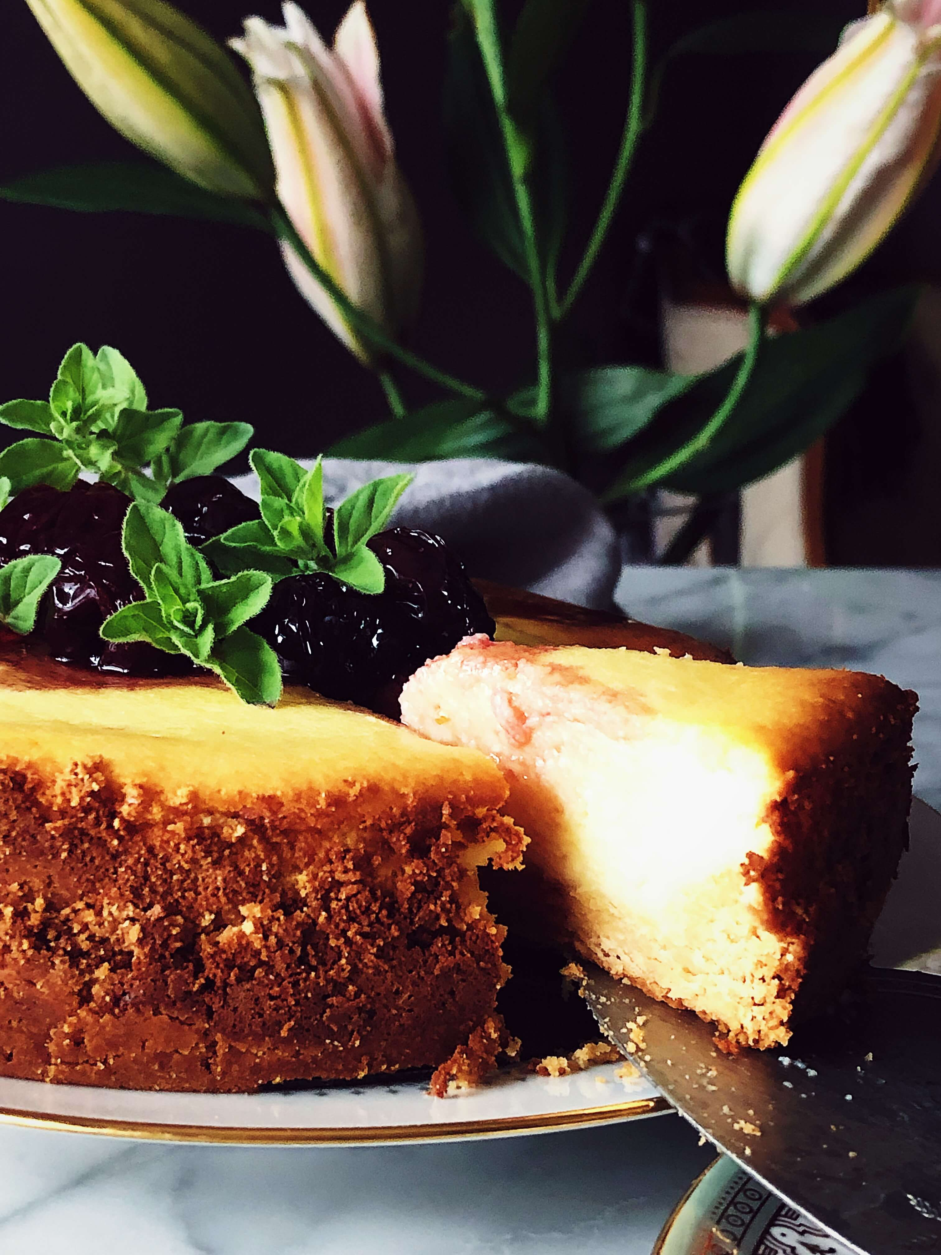 baked ricotta cheesecake without cream cheese #gourmetproject