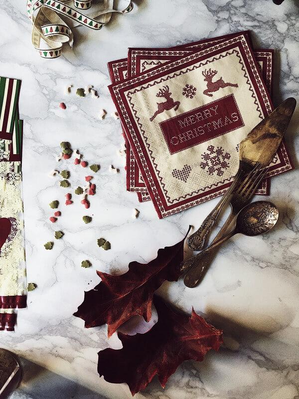 food magazine pic of Christmas props