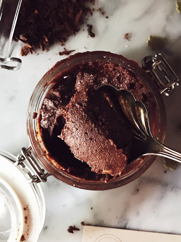 food magazine pic of homemade nutella
