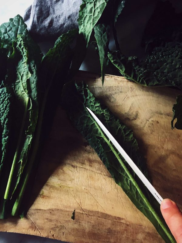 how to clean kale