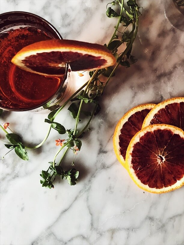 Aperol Spritz with prosecco in a glass and orange slices