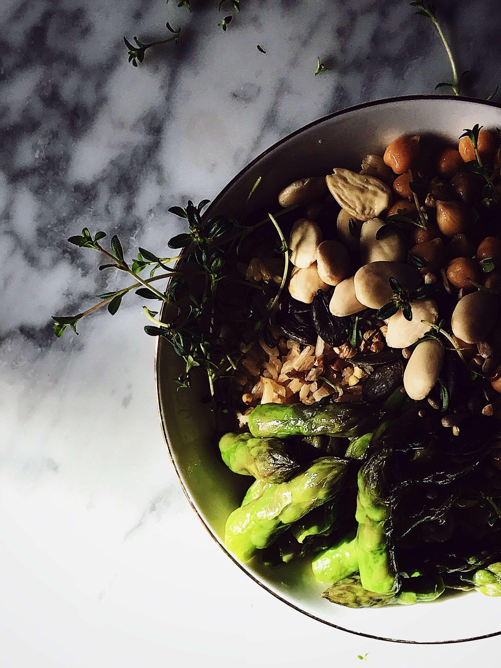 asparagus Buddha bowl