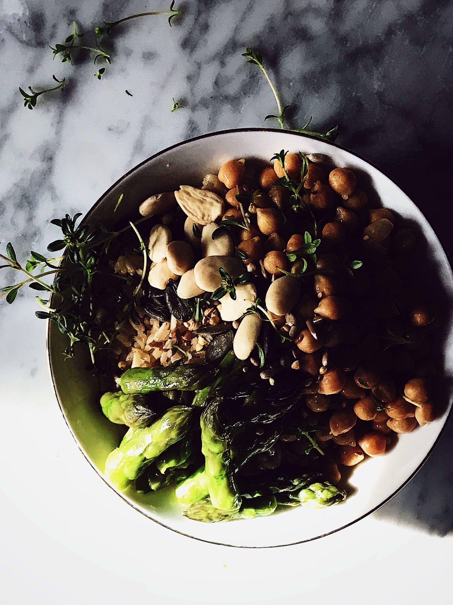 asparagus rice bowl