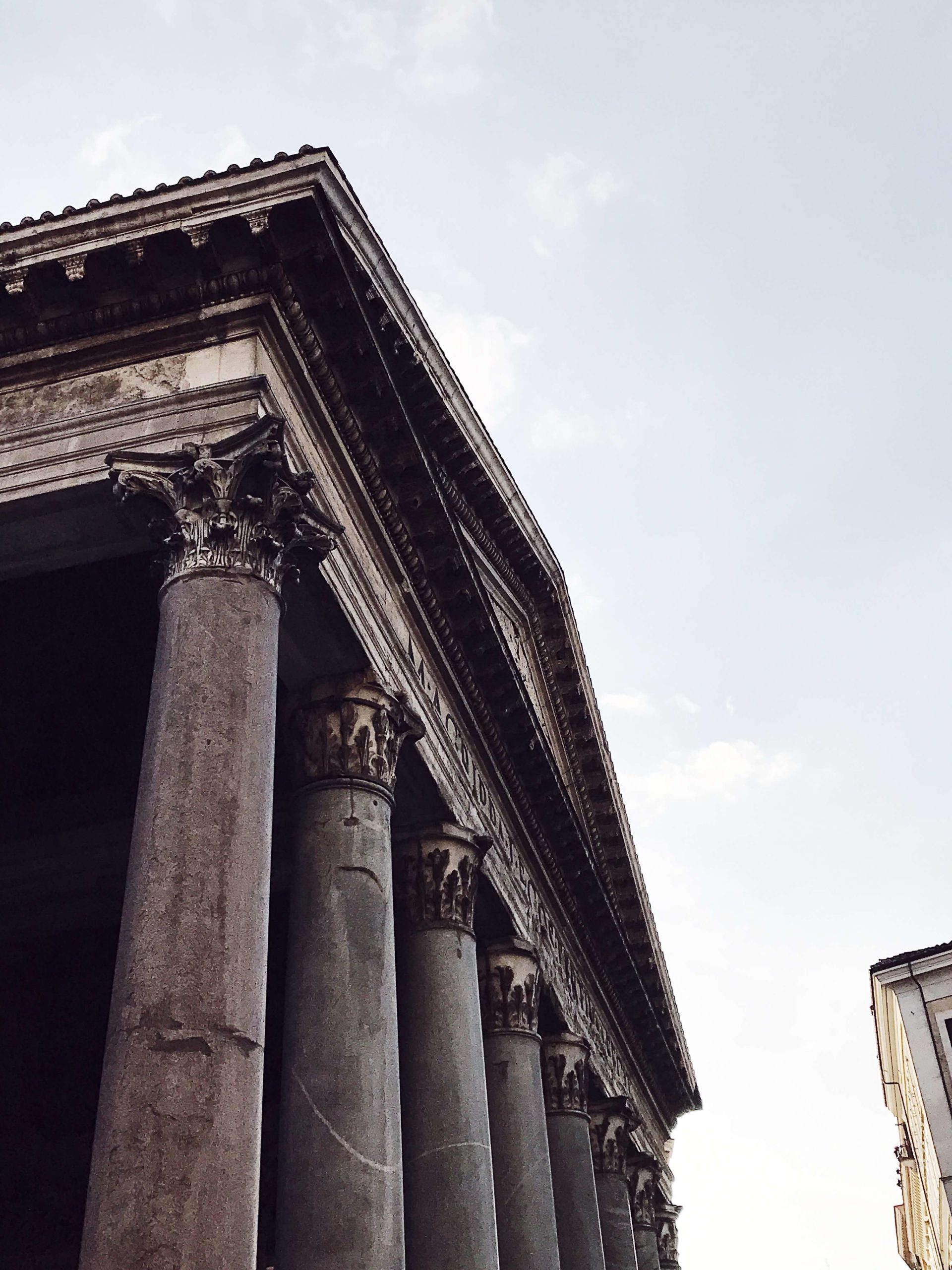 Rome in pictures: pantheon's columns
