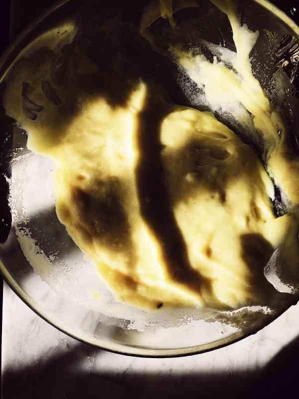Italian potato puree in a bowl