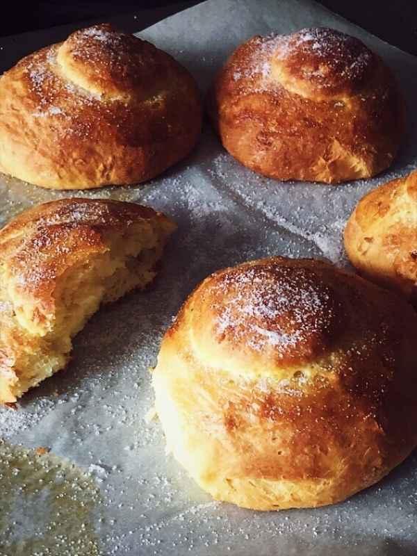brioche recipe buns with sugar