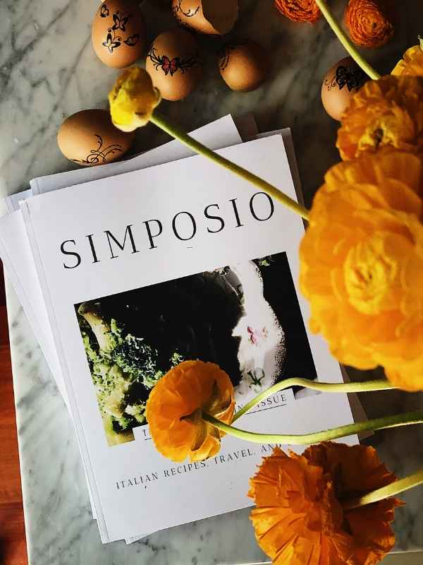 the Italian Spring issue cover of Simposio