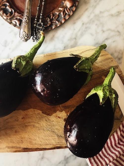 eggplants for the Italian eggplant pasta sauce recipe