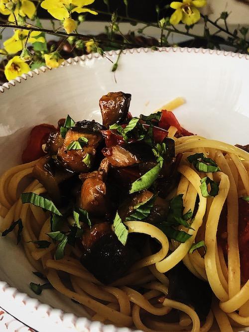 Italian eggplant pasta sauce recipe