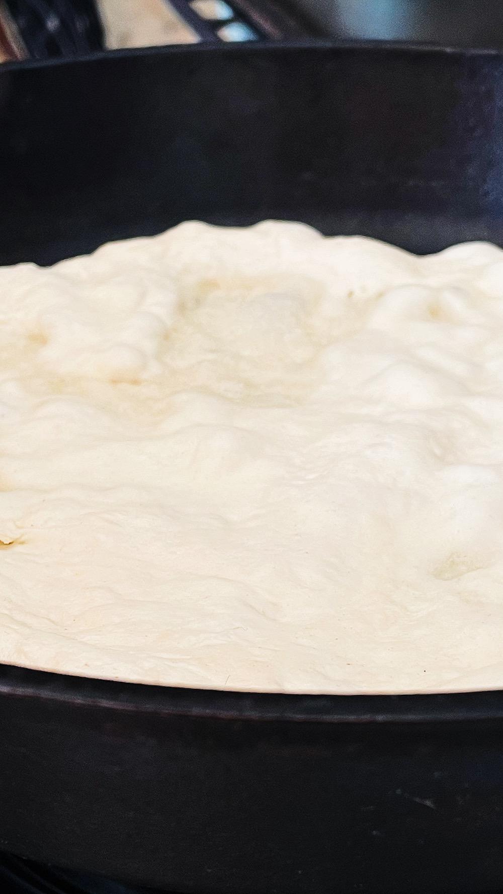 Italian pizza cast-iron skillet cooking